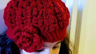 getlinkyoutube.com-👭Como tejer gorro para niñas en crochet