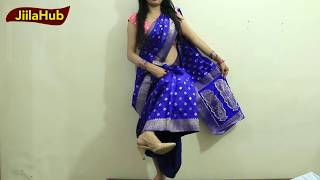getlinkyoutube.com-How To Wear Saree In Party Season|Dancing Style Sari To Look Hot With Heels|Jiilahub Party Styles