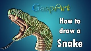 getlinkyoutube.com-How to draw a Snake   Pen & Ink Drawing Tutorials   How to Draw Animals