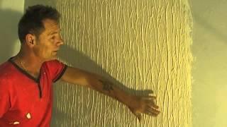 getlinkyoutube.com-How to Make Tree Bark Wall Texture (knock down flat) Easy Simple Steps