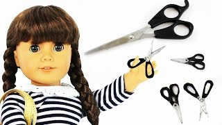 getlinkyoutube.com-Make realistic DOLL SCISSORS for American Girl / Barbie   -  Easy Doll Crafts - simplekidscrafts