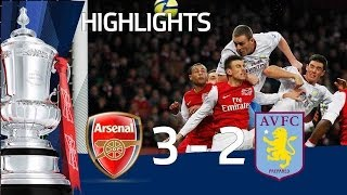getlinkyoutube.com-Arsenal 3-2 Aston Villa - Official Highlights and Goals | FA Cup 4th Round Proper 29-01-12