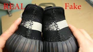 """getlinkyoutube.com-Yeezy 350 V2 Black/White """"Real vs. Fake"""""""