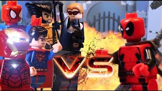 getlinkyoutube.com-LEGO ALL DEADPOOL BATTLES VS WOLVERINE CAPTAIN AMERICA JUSTICE LEAGUE HULK