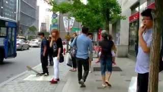 getlinkyoutube.com-KK首爾自由行 - 明洞地鐵站經Days戴斯酒店步行往中國領事館及換錢店