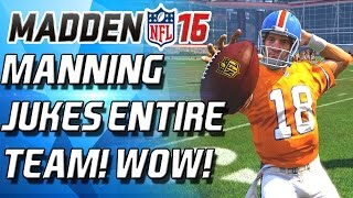 99 SPEED MANNING JUKES THE ENTIRE TEAM! - Madden 16 Ranked Draft Champs!