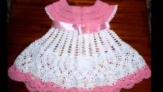 getlinkyoutube.com-vestido a crochet para niña de 6 meses