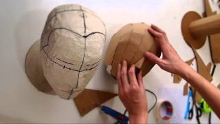 getlinkyoutube.com-#79: Cardboard Head Form - with free template (size S, M, L)   Costume Prop   How To   Dali DIY