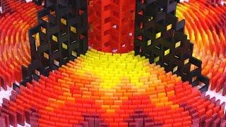 getlinkyoutube.com-200,000 Dominoes - The Incredible Science Machine