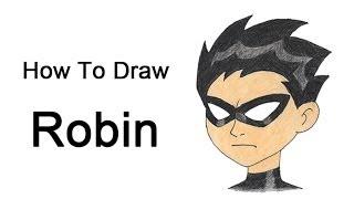 getlinkyoutube.com-How to Draw Robin (Teen Titans)