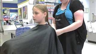 Cloe's BIG hair cut