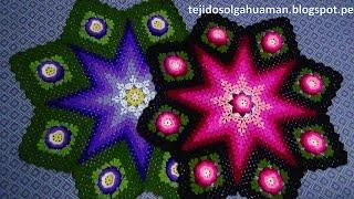 getlinkyoutube.com-Tapete o Carpeta tejido a crochet paso a paso video 3