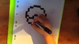 getlinkyoutube.com-#1 Comment dessiner une pokeball (pixel art)