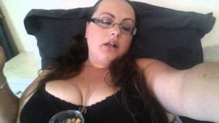 getlinkyoutube.com-MissJ Smoking on the bed.