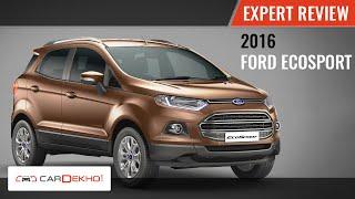 2016 Ford EcoSport | Expert Review Video | CarDekho.com