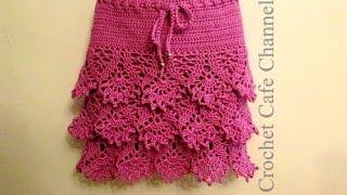 getlinkyoutube.com-كروشيه جيب \ تنورة بأى مقاس | #كروشيه كافيه Crochet Cafe#