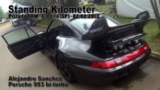 getlinkyoutube.com-Porsche 993 bi turbo 317km/h - Alejandro Sanchez - Standing Kilometer