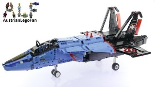 getlinkyoutube.com-Lego Technic 42066 Air Race Jet - Lego Speed Build Review