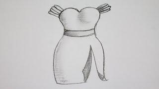 getlinkyoutube.com-How to draw a dress easy