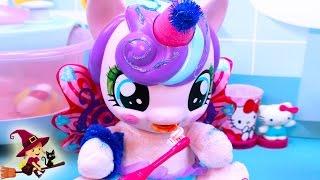 Hello Kitty y Rainbow Dash Aprenden a Cepillar los Dientes