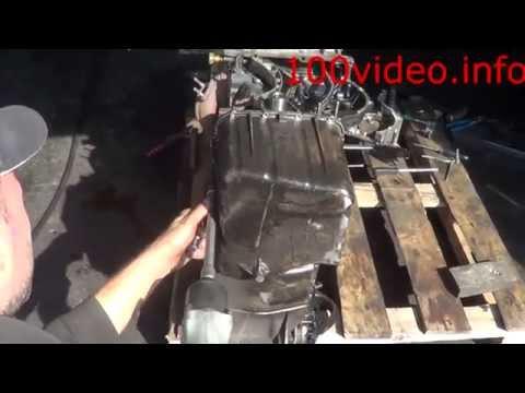Rexton снятие поддона двигателя