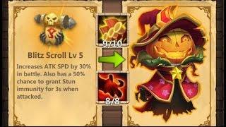 getlinkyoutube.com-Castle Clash Solo Raiding with 8/8 Berserk Pumpkin Duke with 9/10 Skill. Blitz Scroll Lv 5