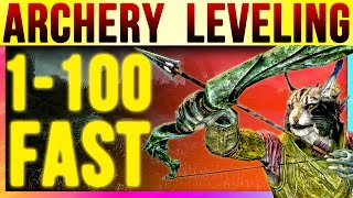 Getlinkyoutube com skyrim special edition 100 archery fast at level 1