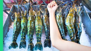 RECORD BREAKING THAI PRAWNS!!! The ULTIMATE Thai Seafood Experience in Bangkok, Thailand! width=