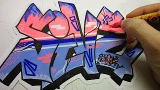 getlinkyoutube.com-Frosted Graffiti Speed Art
