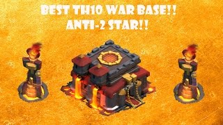 getlinkyoutube.com-Clash Of Clans: Best TH 10 War Base!! Anti 2 Star!! Tough Base!!