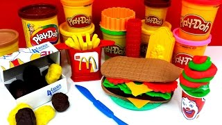 Happy Meal Play Doh McDonald's Fries Chicken McNuggets Sandwich Ice Cream
