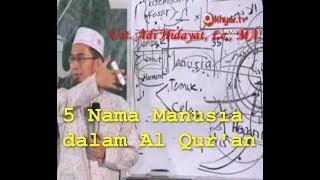 5 Nama Manusia dalam Al-Qur'an | Sifat Manusia Ust. Adi Hidayat, Lc., MA.