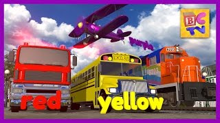 getlinkyoutube.com-Color Train | Learn Colors with Trains and Vehicles for Kids