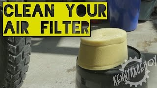 getlinkyoutube.com-How To: Air Filter Clean & Replace - KLR650