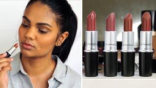 getlinkyoutube.com-MAC NUDE LIPSTICKS FOR INDIAN SKIN TONES | ZAHRAH ALIYAH