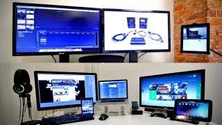 getlinkyoutube.com-Ultimate Tech Office Tour / Gaming Setup / Desk Setup 2013