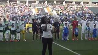 Yemi sings Nigerian National Anthem / Greece vs. Nigeria Friendly Match / Philadelphia, PA