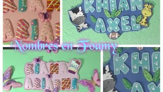 getlinkyoutube.com-Letras 3D nombres en foamy banner/letreros o carteles en goma eva/DIY crafts: 3D LETTERS