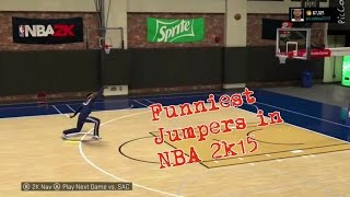 getlinkyoutube.com-NBA 2K15 Top 5 Funniest Jumpshot Releases || Craziest Jumpshots