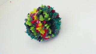 Bommel Mütze Pompom selber machen DIY | einfache Wolle Wintermütze Häkeln Stricken | Häkeltipps