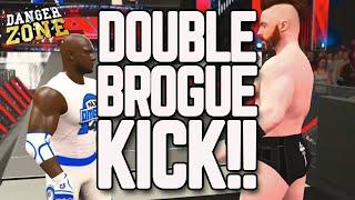 getlinkyoutube.com-WWE 2K16 DOUBLE BROGUE KICK! Epic Gameplay Commentary!