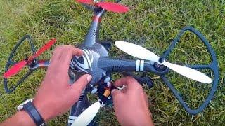 getlinkyoutube.com-XK Detect X-380 -  MY FIRST GPS QUAD - 1st FLIGHT