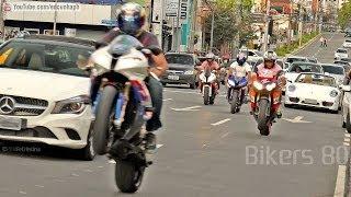 getlinkyoutube.com-Bikers 80 - Kawasaki Burnout, Suzuki, Honda, BMW Wheelie, Yamaha Ducati & More Superbikes