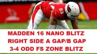 getlinkyoutube.com-MADDEN 16 INSANE NANO BLITZ - 5 MAN B GAP HEAT - 3-4 Odd FS Zone Blitz