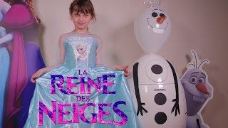 getlinkyoutube.com-[OEUF & JOUET] Oeuf géant Reine des Neiges Olaf maxi plein - Unboxing giant full Frozen Egg