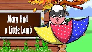 getlinkyoutube.com-Mary Had a Little Lamb lyrics song with Vocal | Nursery Rhymes For Kids | Ultra HD 4K Music Video