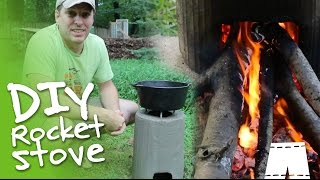 getlinkyoutube.com-How To Make A DIY Concrete Rocket Stove