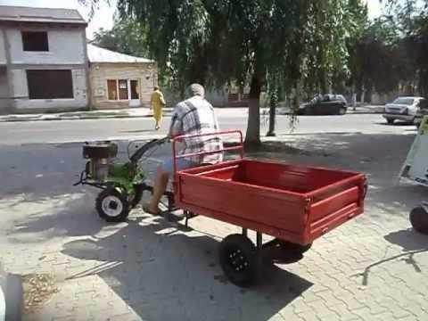 Motocultor Diesel AGR cu priza putere 6CP cu remorca