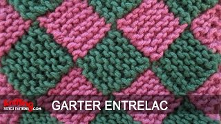 getlinkyoutube.com-Garter Entrelac Knitting