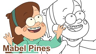 getlinkyoutube.com-How to draw Mabel Pines Gravity Falls drawing for kids - Как нарисовать Гравити Фолз